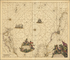 Atlantic Ocean, New England, Mid-Atlantic, Caribbean, Brazil and Canada Map By Frederick De Wit