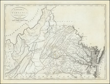 Virginia Map By John Reid