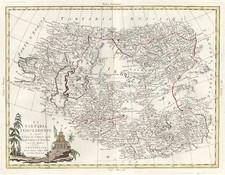 Asia, China, Central Asia & Caucasus and Russia in Asia Map By Antonio Zatta
