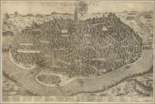 Spanish Cities Map By Giovanni Orlandi / Pietro de Nobili