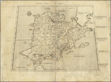 Spain, Portugal and Balearic Islands Map By Claudius Ptolemy
