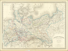 Germany, Poland and Baltic Countries Map By Adolphe Hippolyte Dufour