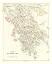 Greece Map By John Arrowsmith