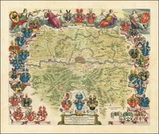 German Cities Map By Johannes et Cornelis Blaeu