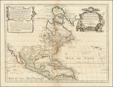 L'Amerique Septentrionale Dressee sur les Observations de Mrs. de l'Academie Royale des Sciences  By Guillaume De L'Isle