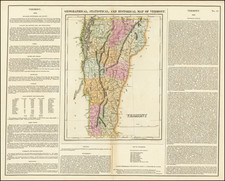 Vermont Map By Henry Charles Carey  &  Isaac Lea