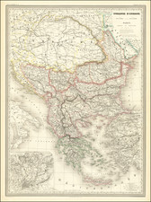 Turkey & Asia Minor and Greece Map By Adolphe Hippolyte Dufour