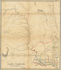 North Dakota and South Dakota Map By General Land Office