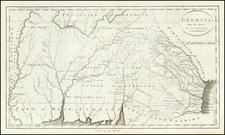 South, Alabama, Mississippi, Southeast and Georgia Map By John Reid