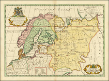 Russia and Scandinavia Map By Edward Wells