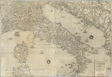 Italy Map By Giacomo Gastaldi / Fabius Licinius
