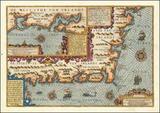 Ireland Map By Willem Barentsz / Cornelis Claesz / Pieter van den Keere