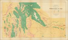Utah, Idaho, Utah and Wyoming Map By F.V. Hayden