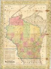 Wisconsin Map By Rufus Blanchard / Charles Morse