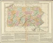 Pennsylvania Map By Henry Charles Carey  &  Isaac Lea