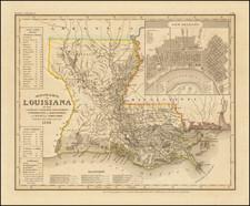 Louisiana Map By Joseph Meyer
