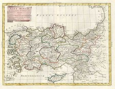 Europe, Turkey, Mediterranean, Balearic Islands, Asia and Turkey & Asia Minor Map By Antonio Zatta