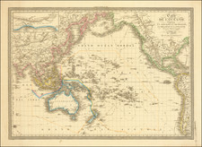 Pacific Ocean, Australia and Oceania Map By A.R. Fremin