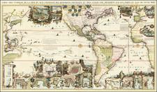 World, World, Atlantic Ocean, North America, South America, Pacific, California and America Map By Henri Chatelain