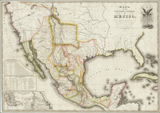 United States, Texas, Southwest, Mexico and California Map By White, Gallaher & White