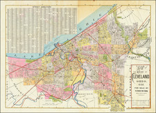 Ohio Map By Cleveland News Company / A.H. Mueller