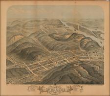 Iowa Map By Albert Ruger  &  J.J. Stoner