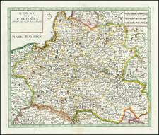 Poland Map By Giambattista Albrizzi