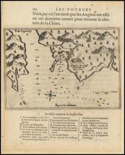 Eastern Canada Map By Samuel de Champlain