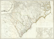 Southeast, North Carolina and South Carolina Map By Henry Mouzon