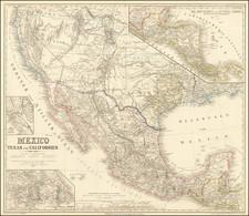 Mexico, Texas und Californien  (Names Deseret!) By Heinrich Kiepert