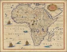 Africa Map By Petrus Bertius / Michel Van Lochem
