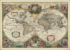 World Map By Henricus Hondius