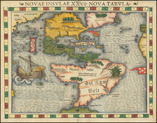 Novae Insulae XXVI Nova Tabula By Sebastian Munster