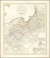 Poland and Norddeutschland Map By Adolf Stieler