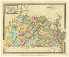 West Virginia and Virginia Map By David Hugh Burr