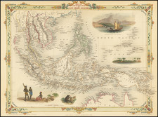 Southeast Asia, Philippines, Indonesia, Malaysia and Thailand, Cambodia, Vietnam Map By John Tallis