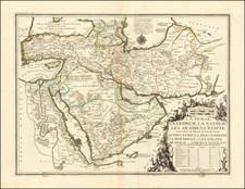 Central Asia & Caucasus, Middle East, Arabian Peninsula, Persia & Iraq and Turkey & Asia Minor Map By Nicolas de Fer / Guillaume Danet