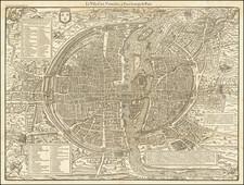 Paris Map By Francois De Belleforest