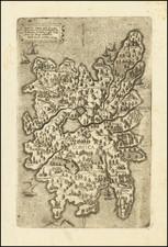 Corsica Map By Ferrando Bertelli