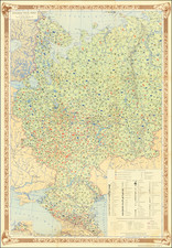 Russia and Pictorial Maps Map By Main Directorate of Geodesy and Cartography