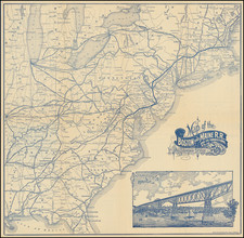 United States Map By Boston & Maine R.R.