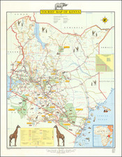 East Africa and Pictorial Maps Map By Survey of Kenya