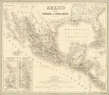 Texas, Mexico and Central America Map By Weimar Geographische Institut
