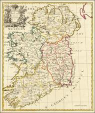 Ireland Map By John Senex