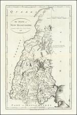 New Hampshire Map By John Reid