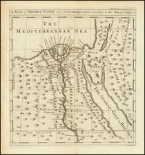 Egypt Map By Emanuel Bowen