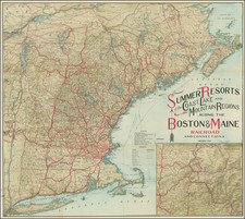 New England, Connecticut, Maine, Massachusetts, New Hampshire, Rhode Island and Vermont Map By Matthews-Northrup & Co.