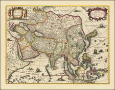 Asia Map By Jodocus Hondius