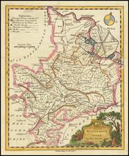 British Counties Map By Thomas Kitchin