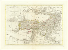 Turkey, Central Asia & Caucasus and Turkey & Asia Minor Map By Samuel Dunn / Laurie & Whittle
